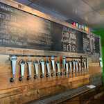 Many craft beers on tap
