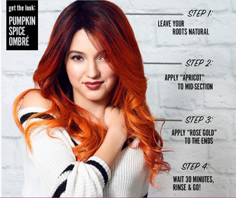 DIY Pumpkin Spice Ombre Hair