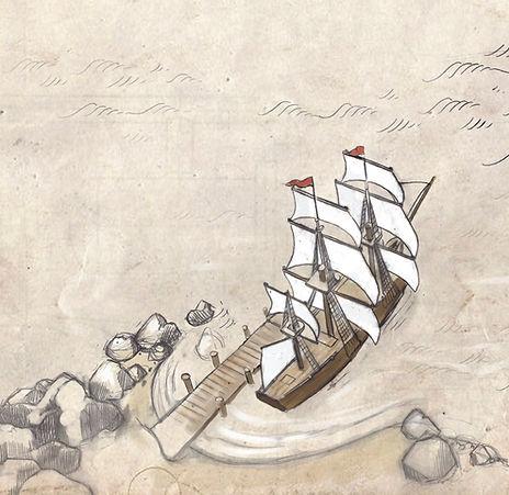 health map, ship, navigator medical