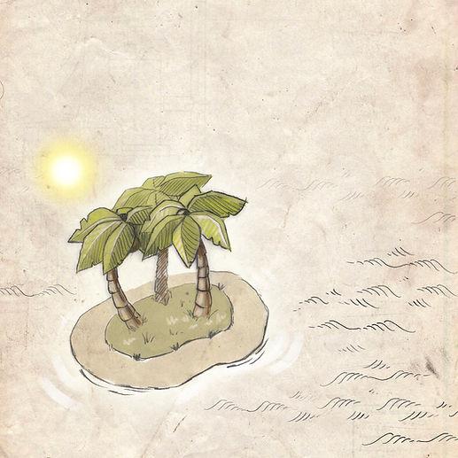 tropical island, map, navigator medical