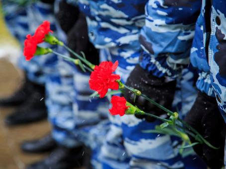 Панихида в память сотрудников правоохранительных органов, погибших при исполнении служебного долга