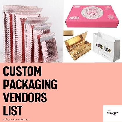 Custom Packaging Vendor List (Instant Email)