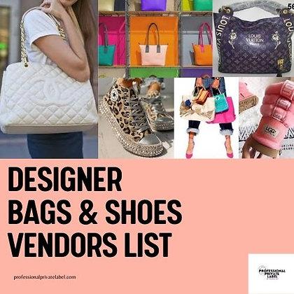 Designer BAG & SHOES Vendors List