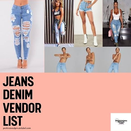 Jeans & Denim Vendor List