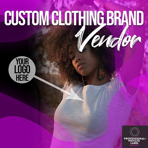 Custom Clothing Brand Vendors List