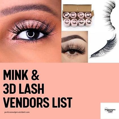 Mink Lash Vendor List (Instantly Emailed)