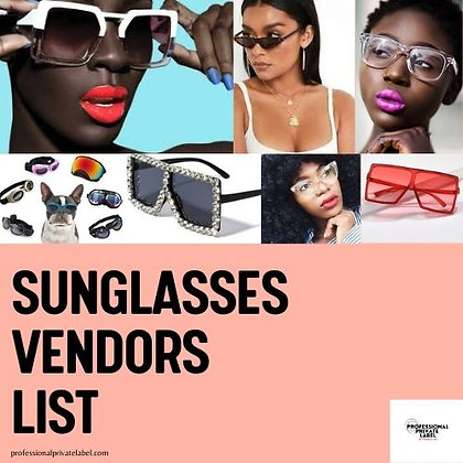 Sunglass Vendors List (Instant Emailed)
