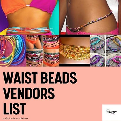 Waist Beads Vendors List (Instant Email)