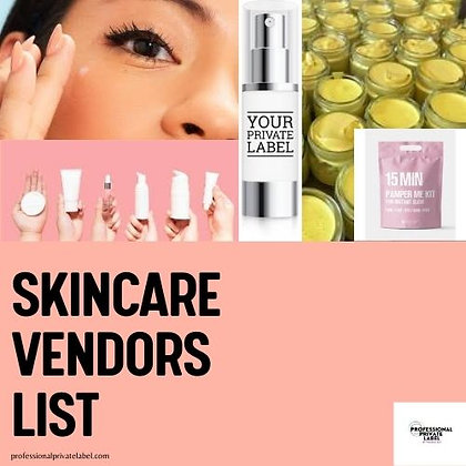 Skin Care Wholesale Vendors List