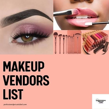 Makeup Vendors List (U.S BASED) + 3 bonus Vendors! (Instant Email)