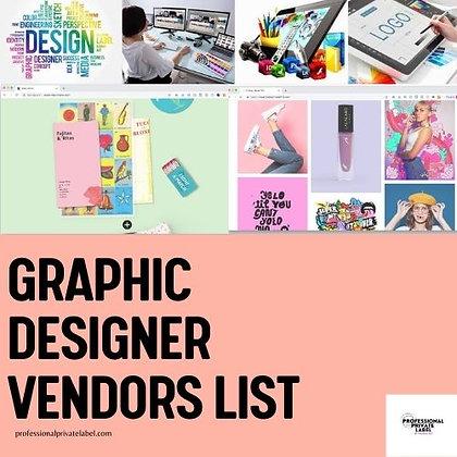 Graphic Designer Vendors List (Instant Email)