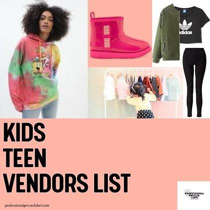 Kids | Children's Wholesale Vendor List