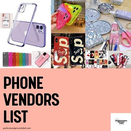 Phone, Cases, & Electronics Vendor List (Instantly Emailed)