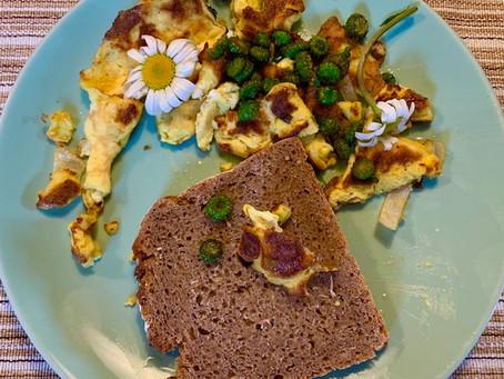 Margeritenknospen zum Omelette