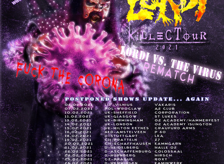 Killectour 2021 Lordi vs. The Virus Rematch - more dates and UK tour added!