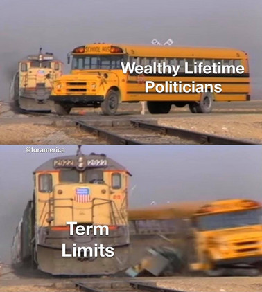 I hear the train a comin', it's rolling round the bend. #TermLimits Now!