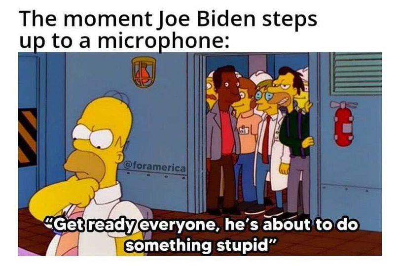 Joe Biden is a running joke…