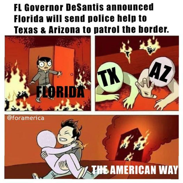 """""""Florida will answer the call, Florida has your back,"""" Governor DeSantis said on FOX. This is how UNITED States should be working together. 🇺🇸💪"""