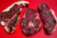 sirloin tbone t-bone ribeye rib-eye steaks dry aged
