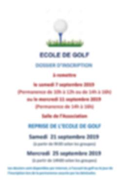 2019_09 AFFICHE REPRISE GOLF 2019_2020_1