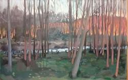 Through the trees at Touille