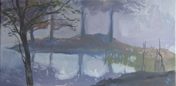 lac Bethmal dans la brume