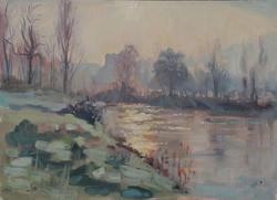 sunrise on the river, La Bastide