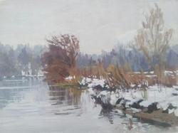 snowy river, near marsh lock Henley.