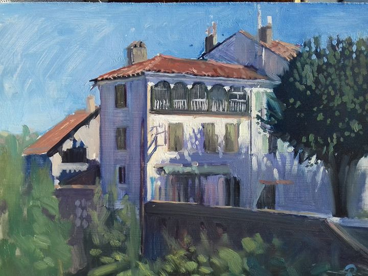 A house by the river, st Girons