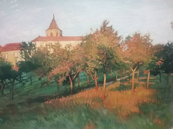 Study of auzas orchard, in studio