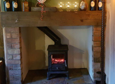 LATEST IMPROVEMENTS TO THE D&P  That smokey old fireplace just had to go!