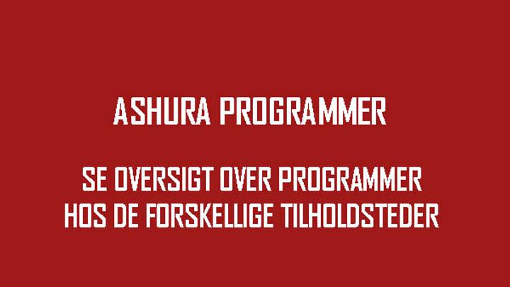oversigt over programmer