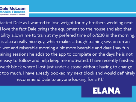 Elana Review - Dale McLean Mobile Fitness