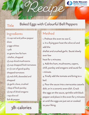 Baked Eggs with Colourful Bell Peppers f
