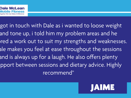 Jaime Review - Dale McLean Mobile Fitness