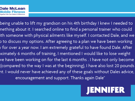 Jennifer Review - Dale McLean Mobile Fitness