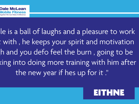 Eithne Review - Dale McLean Mobile Fitness