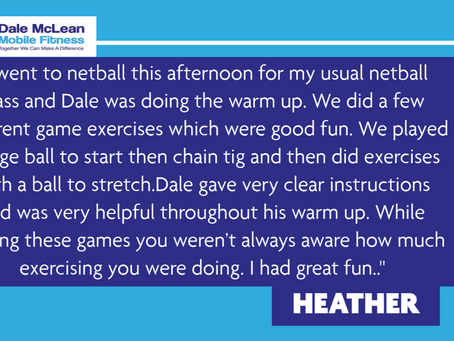 Heather Review - Dale McLean Mobile Fitness