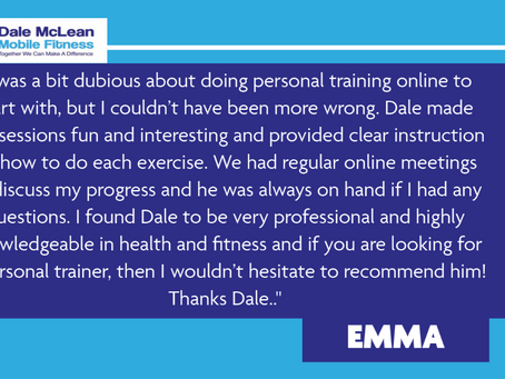 Emma Review - Dale McLean Mobile Fitness
