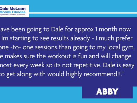 Abby Review - Dale McLean Mobile Fitness