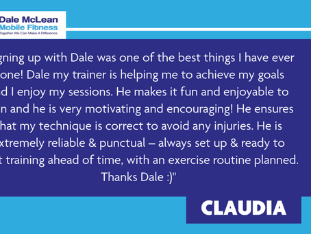 Claudia Review - Dale McLean Mobile Fitness