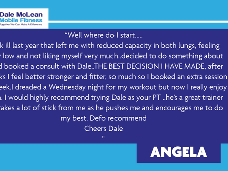 Angela Review - Dale McLean Mobile Fitness