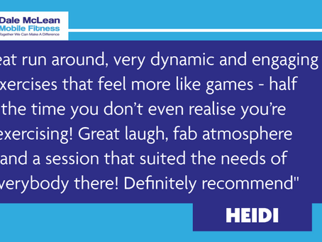 Heidi Review - Dale McLean Mobile Fitness