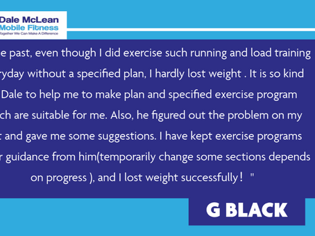 G Black Review - Dale McLean Mobile Fitness