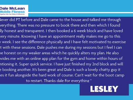 Lesley Review - Dale McLean Mobile Fitness