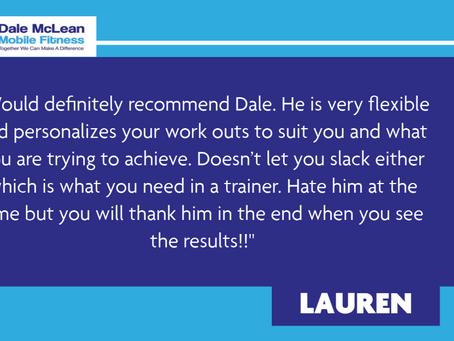 Lauren Review - Dale McLean Mobile Fitness
