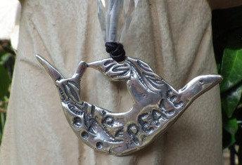 Peace Dove w/ Quartz Chain (Sterling Silver)