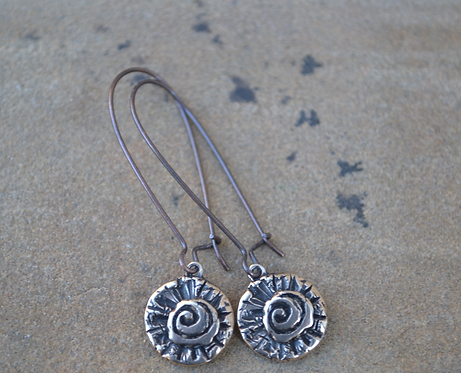 Ageless Earrings (Bronze)