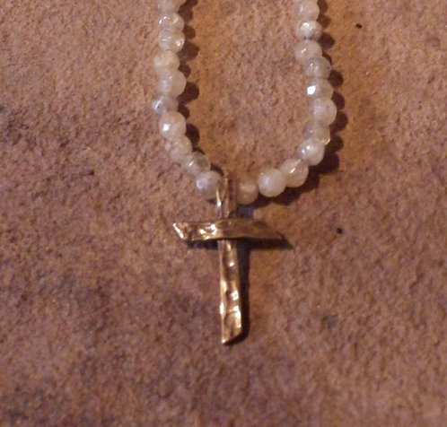 Live Cross w/ Citrine Stone Chain (Bronze)