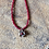 Thumbnail: Hope Flower w/ Red Jade Chain (Bronze)